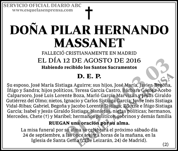 Pilar Hernando Massanet
